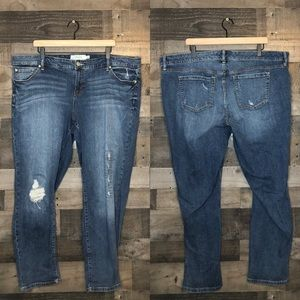 Torrid Distressed Mid Wash Boyfriend Jeans Size 22